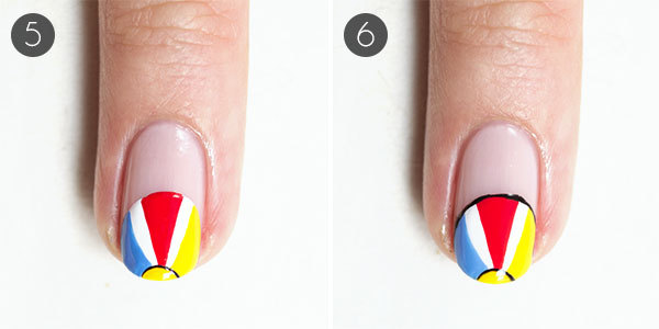 Playful Beach Nail Design Steps 5-6