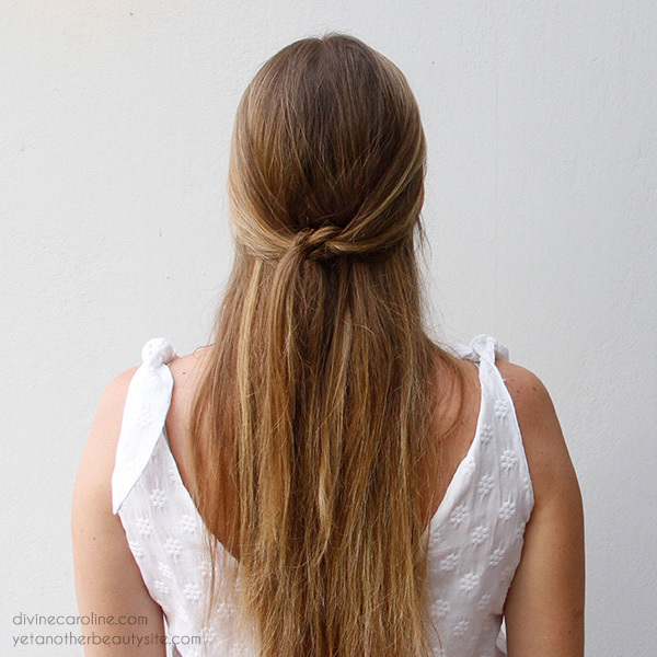 Simple Summer Do The Knotted Half Updo More Com