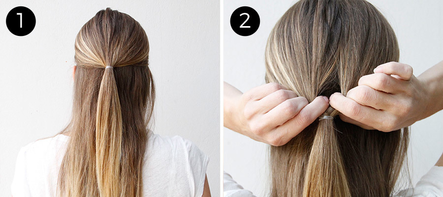 Double Twist Ponytail Steps 1 & 2