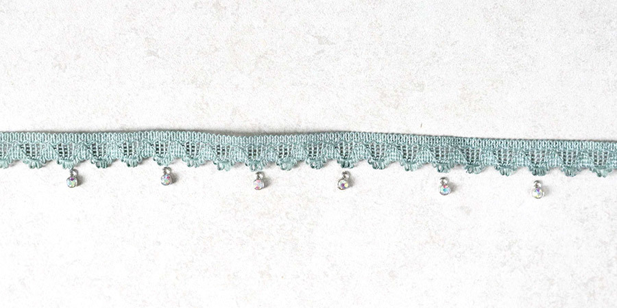 Adding Crystals to Lace Choker