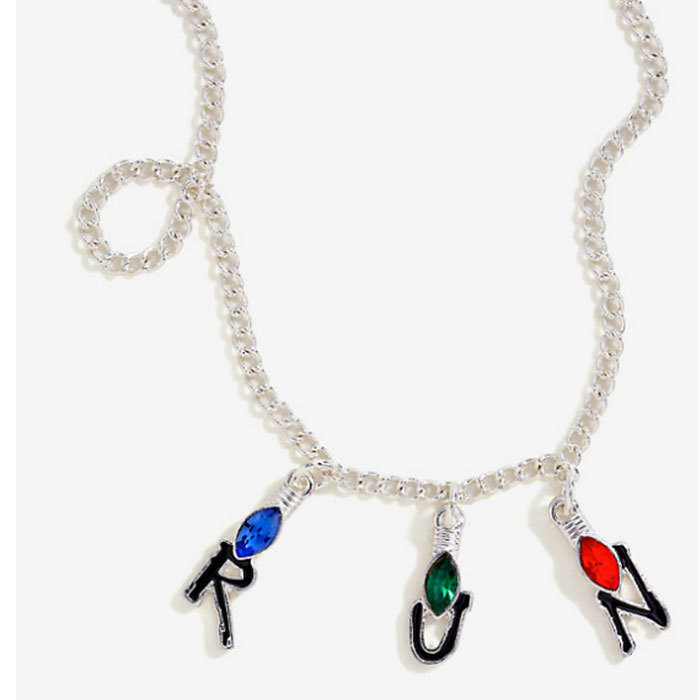 Channel your inner Joyce Byers (channeling her son) with this Christmas light-inspired necklace