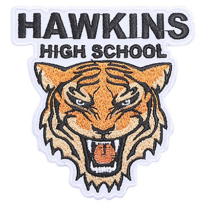 Wear your Hawkins High School spirit with pride using this iron-on patch