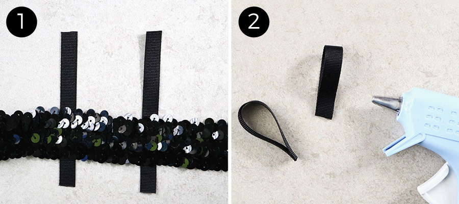 Sequin Straps Steps 1 & 2