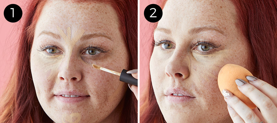 No-Makeup Makeup Steps 1 & 2