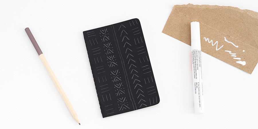 DIY Mudcloth Notebook Step 1