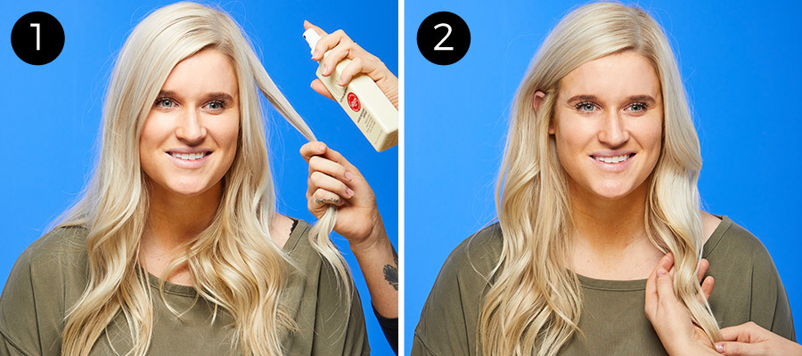'60s-Inspired Low Ponytail Steps 1 & 2