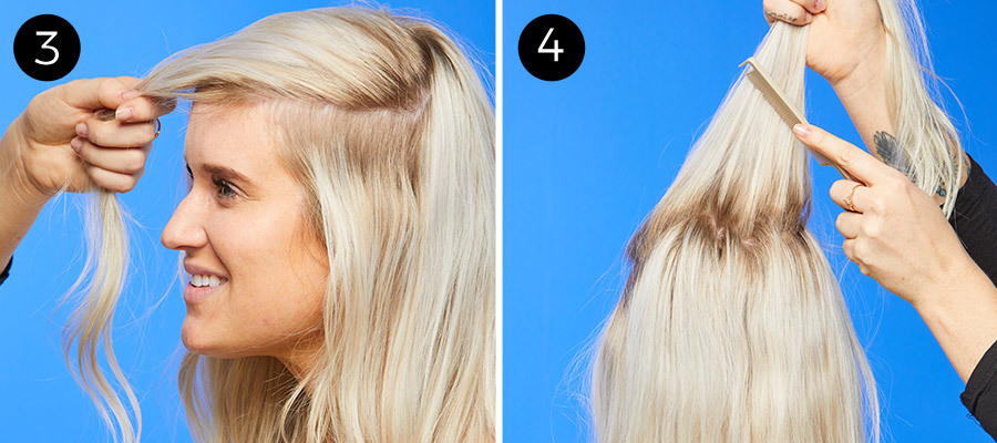 '60s-Inspired Low Ponytail Steps 3 & 4