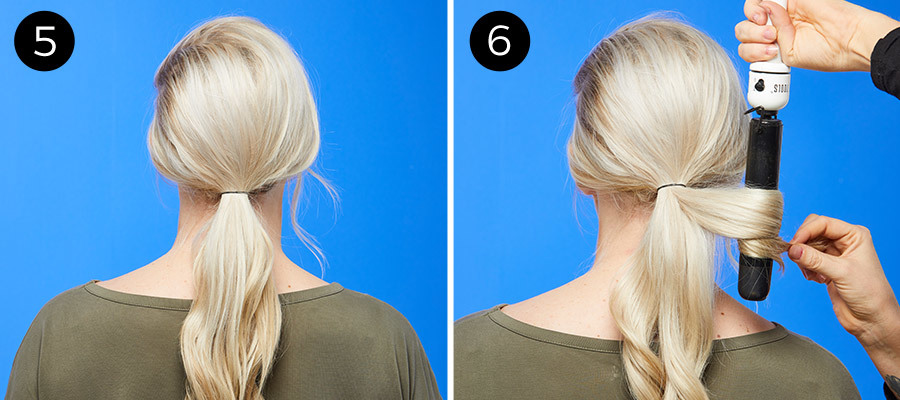 '60s-Inspired Low Ponytail Steps 5 & 6