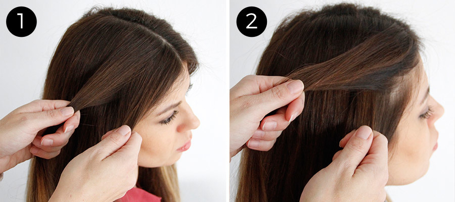 Twisted Pigtails Steps 1 & 2
