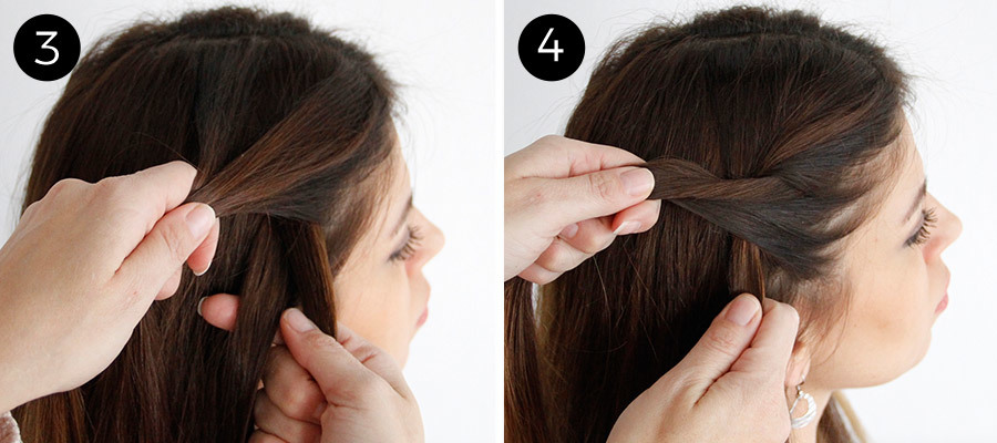 Twisted Pigtails Steps 3 & 4