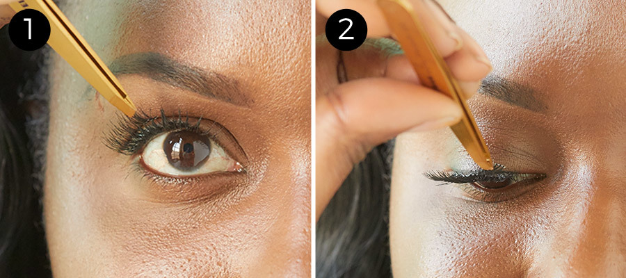 How to Apply False Lashes Steps 1 & 2
