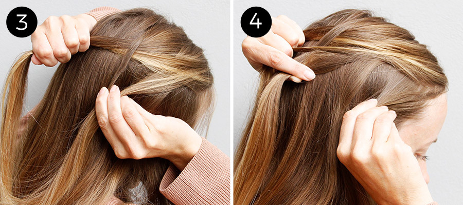 French Fishtail Bun: Steps 3-4