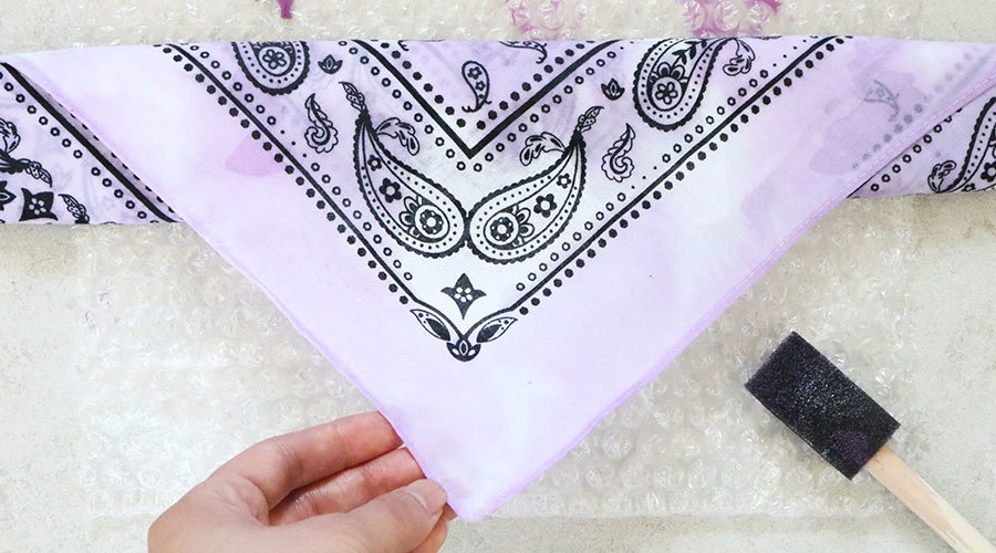 Dyed, Embellished Bandana: Step 4