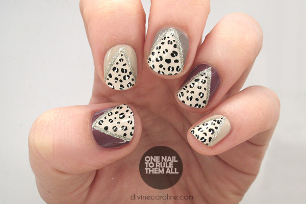 Feeling Frisky Try This Glam Glitter And Leopard Print Nail Design