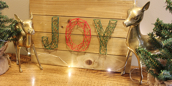 DIY Holiday String Art Finale