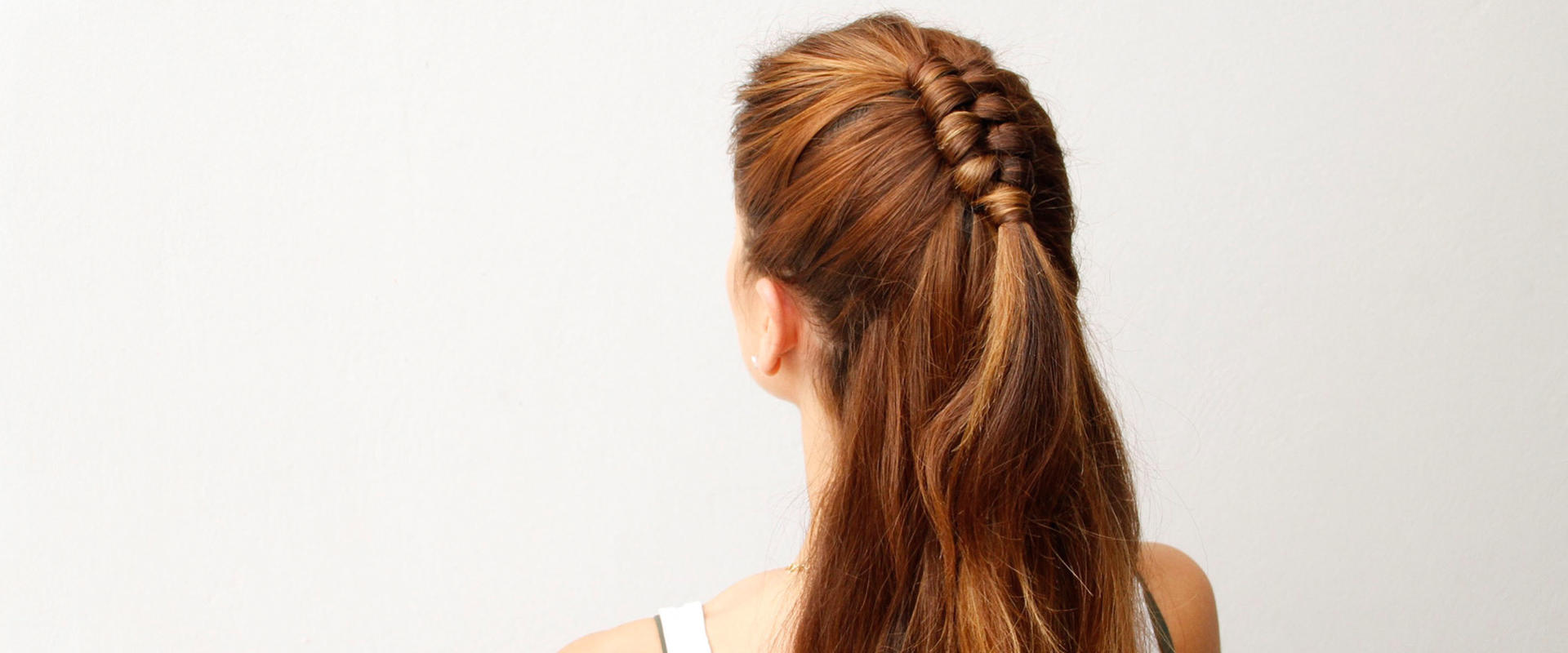 the sky is the limit when you rock this half-up infinity braid