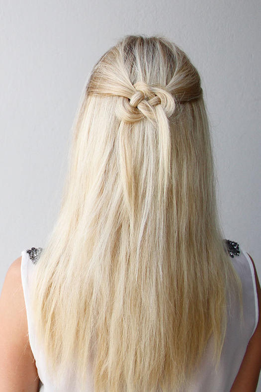 simple hair down styles easy half up half hairstyles to rock for any 3317 | celtic knot 118307