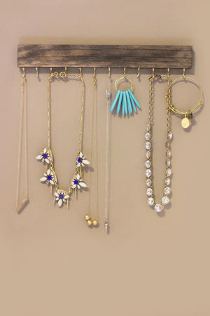 Make Your Own Wall-Mounted Jewelry Holder
