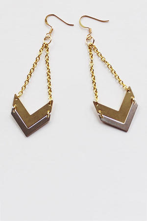 DIY Earrings: Chevron Dangles