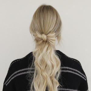 Hair How-to: Low Ponytail with an Accent Bow