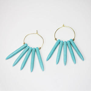 DIY Earrings: Make Your Own Magnesite Spike Hoops