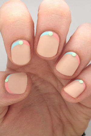 Pastel Nails with Studs to Put a Spring in Your Step