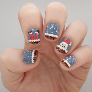 Whimsical Santa Nail Art for the Ho-Ho-Holidays!