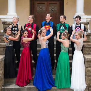 This Superhero-themed Prom Group is Doing High School Right