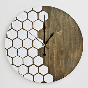 Make Your Own: Honeycomb DIY Wall Clock