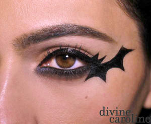 Halloween Makeup How-To: Bat Eyeliner