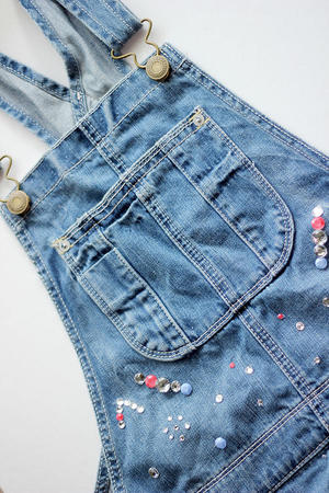 Buckle Up! DIY Embellished Overalls