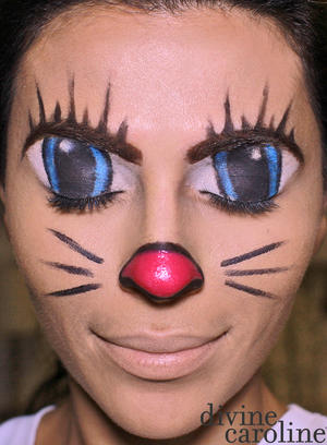 Halloween Makeup How-To: Illusion Cartoon Cat Face