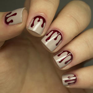 Halloween Manicure: Blood Drip Nail Art