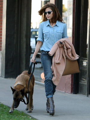 Get the Look: Eva Mendes' Denim Chic