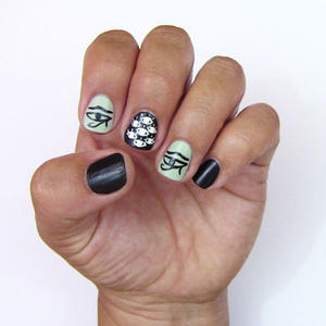 Eye-Catching Egyptian Nail Art Design Tutorial