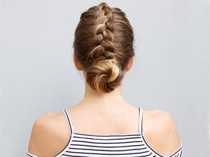 This Dutch Braid And Bun Updo Is As Easy As It Is Cute