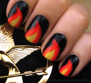 11 Hunger Games Nail Designs to Wear to the Mockingjay Part 2 Opening