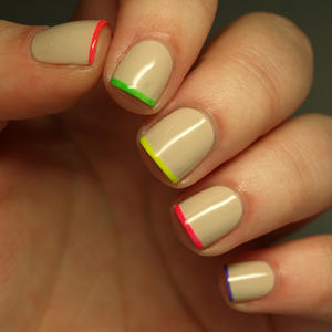 Nail Trends: Neon-Tipped Nails