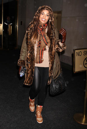 Get the Look: Jordin Sparks' Warm Winter Wear