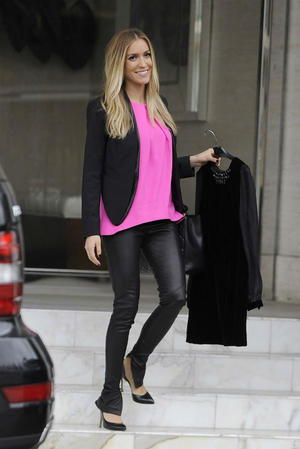 Get the Look: Kristin Cavallari's Sleek Leather Leggings