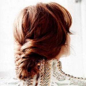 Holiday Hairstyle: Looped Fishtail Updo