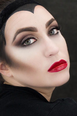 Maleficent Halloween Makeup How-To