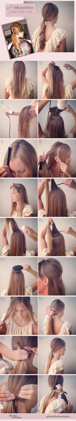 Runway to Real Life: Moschino Low Ponytail Hairstyle
