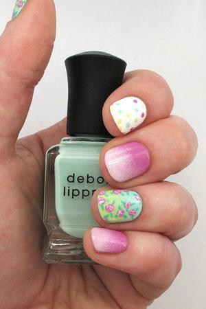 Ombre Nail Art Tutorial: Florals and Dots and Gradients, Oh My!