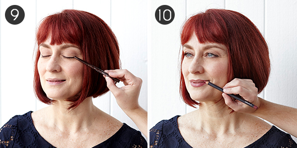 Makeup for Red Hair: Steps 9-10