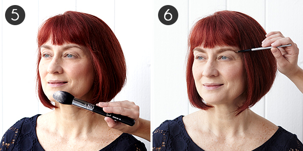 Makeup for Red Hair: Steps 5-6