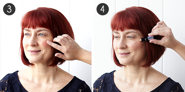Makeup for Red Hair: Steps 3-4
