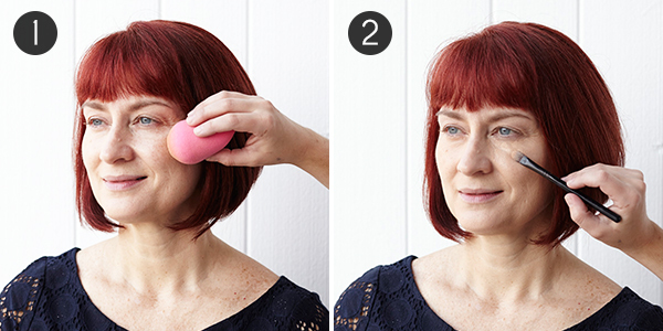 Makeup for Red Hair: Steps 1-2
