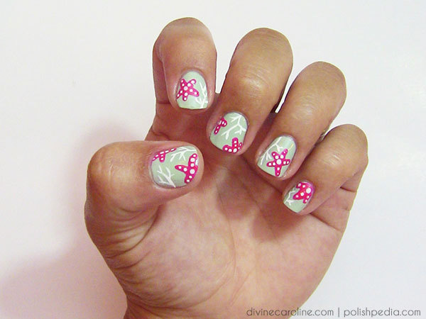 summer nails coral reef nail art more