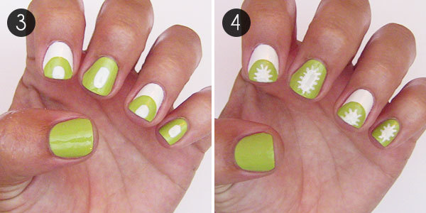 Summer Nails: Cute Kiwi Nail Art